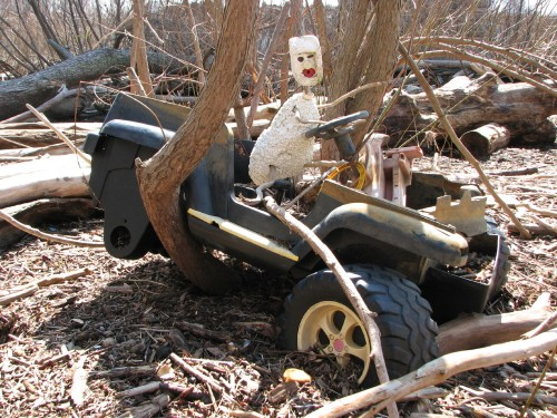 abandoned atv w/figure, 3/09