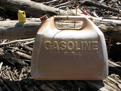 full size and mini gas containers, 4/09