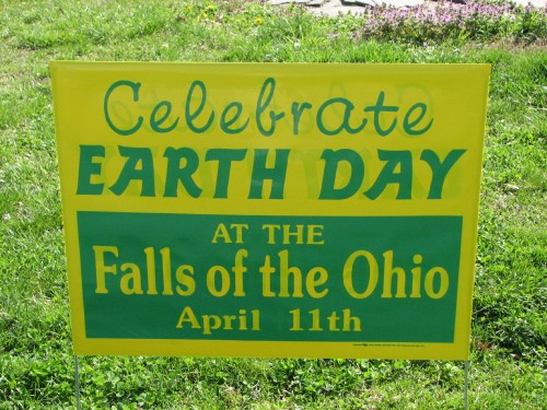 Earth Day sign, 2009