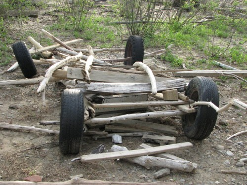 wood car, 4/09
