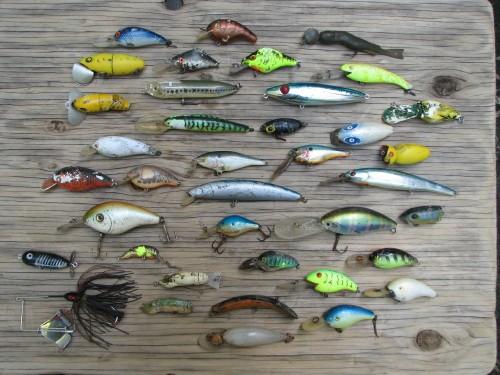 Fishing Lures, displayed, 5/09