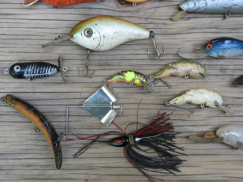 Fishing lures, detail, 5/09