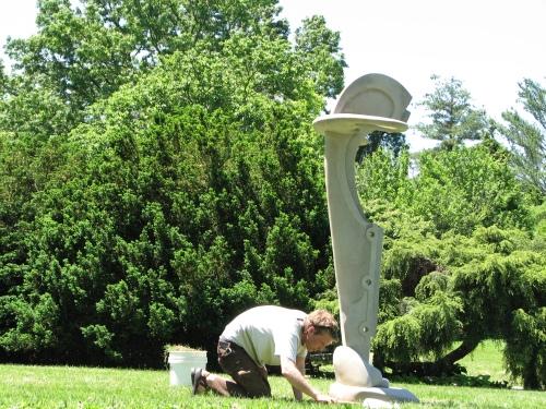 Matt Weir, installing at Yew Dell, 5/09