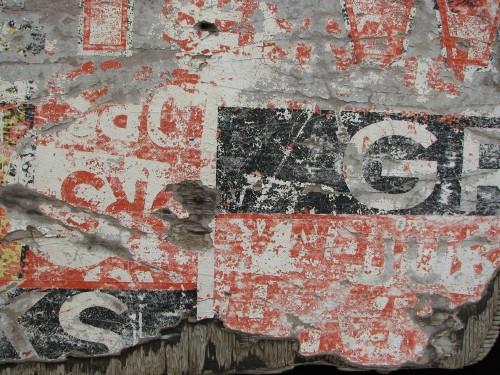 sign fragment detail