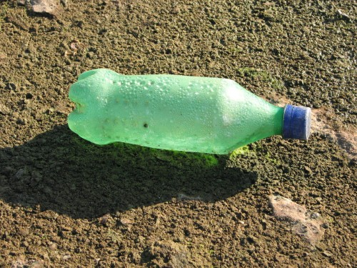 green plastic bottle