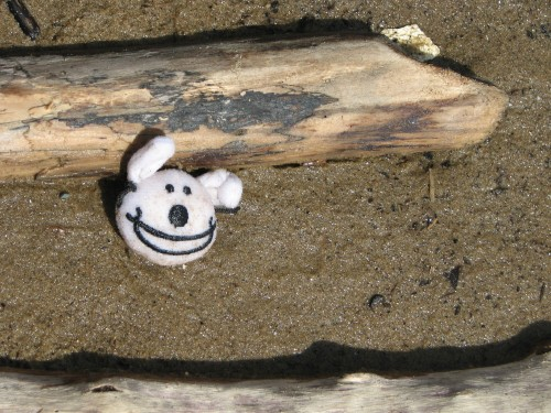 Found cartoon dog face, 6/09