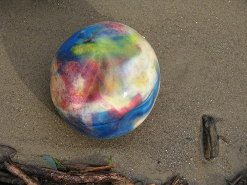 plastic ball, 6/09