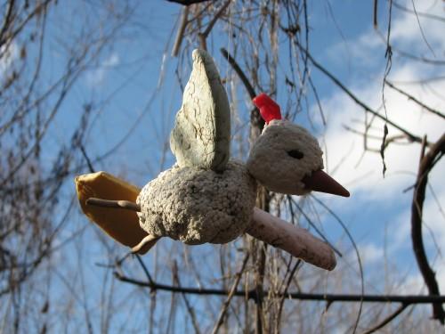 Flying Styro-chickadee