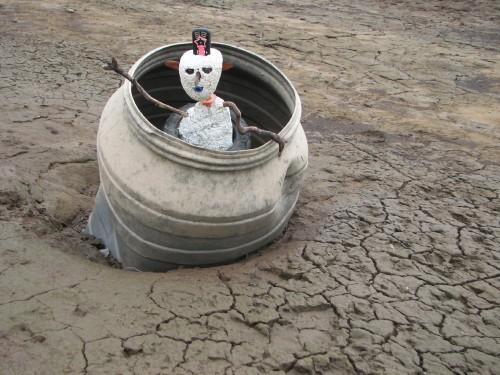 Figure in a barrel, 7/09