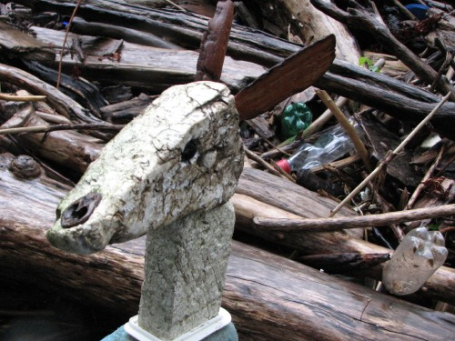 Rain Deer head, 7/09