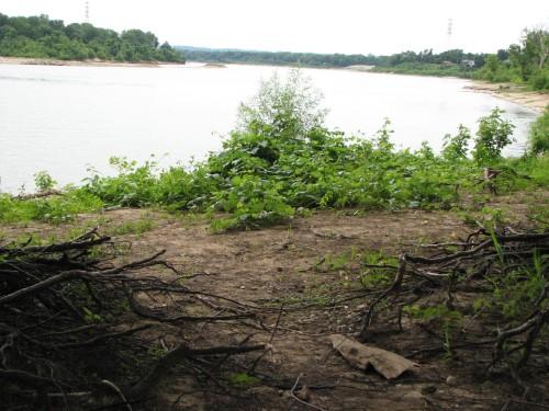 River flowing westward, 7/09