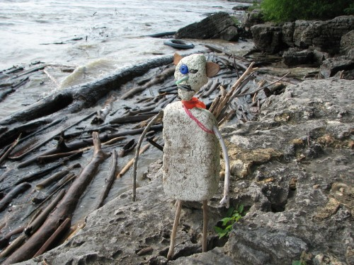Woodsman on the rocks, 8/09