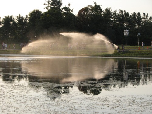 water canon at Bernheim, 9/09