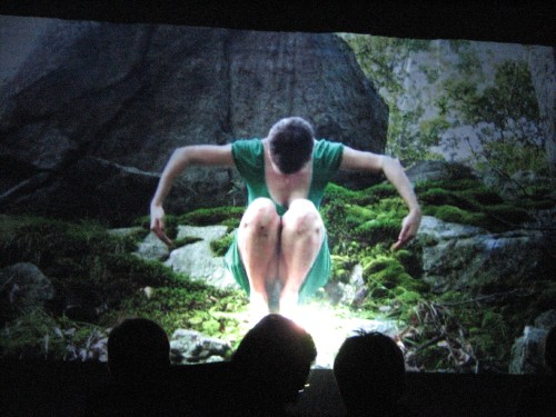 video projection, Bernheim, 9/09