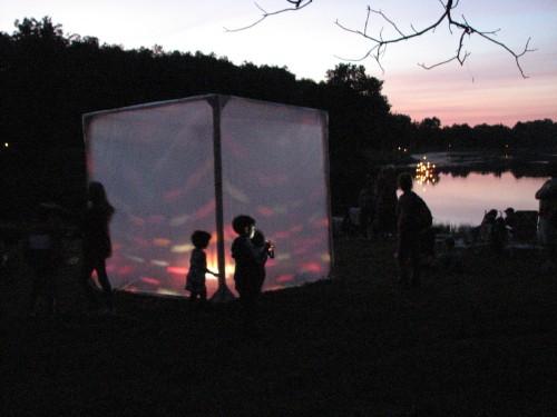 rainbow light cube, Bernheim, 9/09