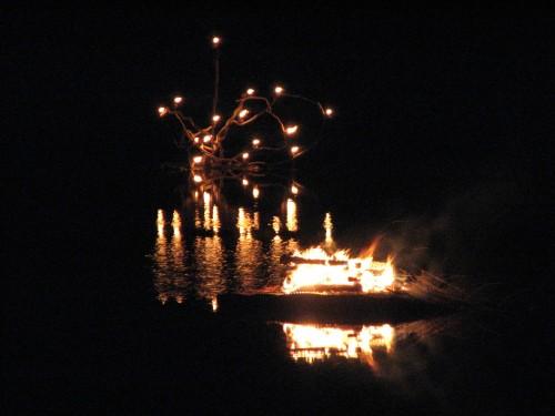 Lake Nevin fire sculptures, 9/09