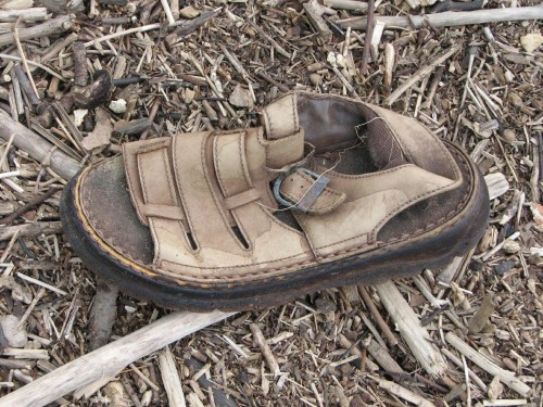 lost leather sandal