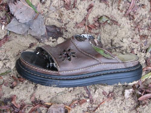 open toe leather sandal