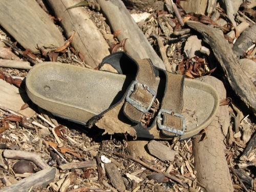 found sandal