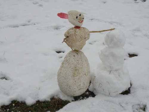 "Blanche makes a ""snowman"",Dec. 2012"