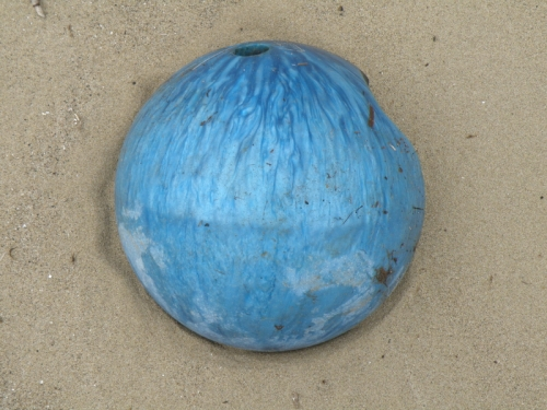bowling ball fragment, Jan. 2013
