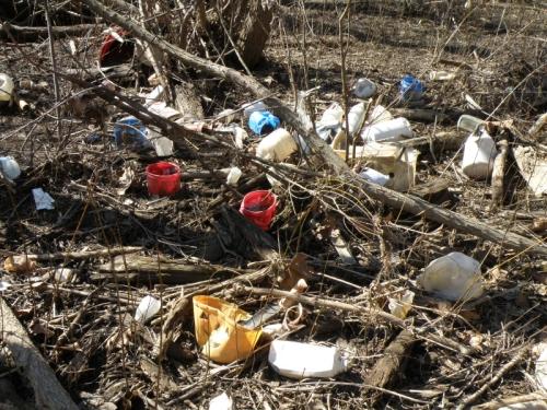 colorful plastic garbage, Feb. 2013