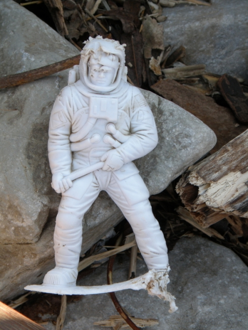 white plastic astronaut, Feb. 2013