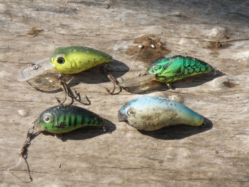 four fishing lures, Feb. 2013