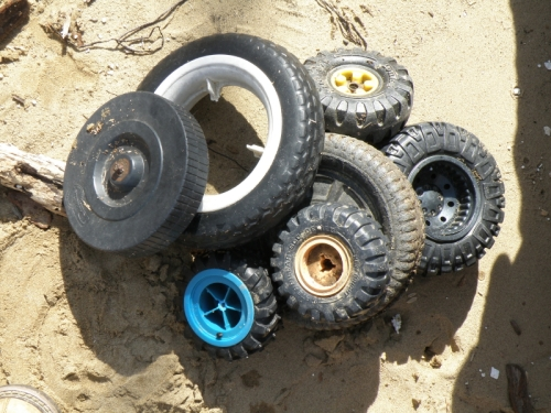 Toy wheels found today. Feb. 9, 2013