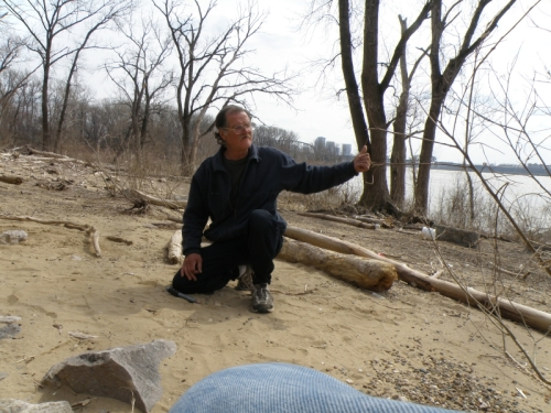 Steve, the Arrowhead Man, March 2013