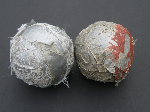 two found duct tape balls
