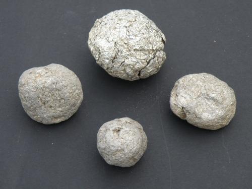 compressed aluminum foil balls
