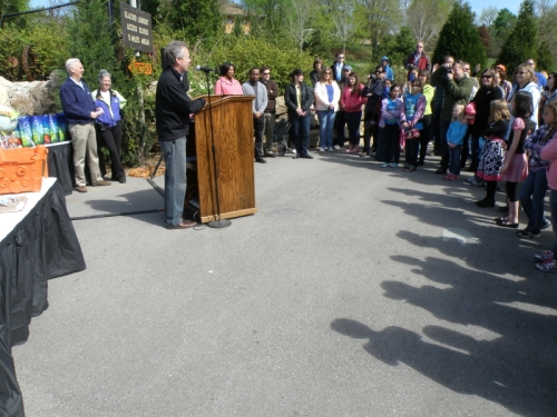 Mayor Greg Fischer at the Louisville Zoo, April 20, 2013