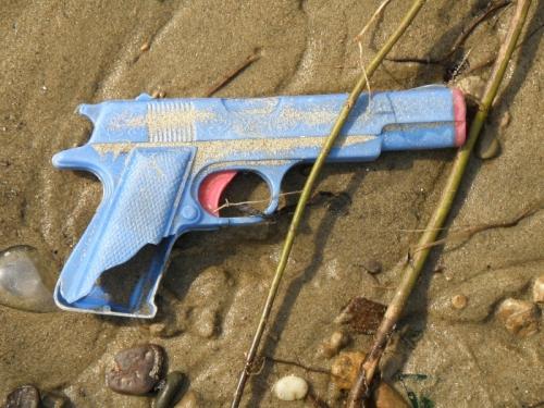 plastic dart gun, May 2013