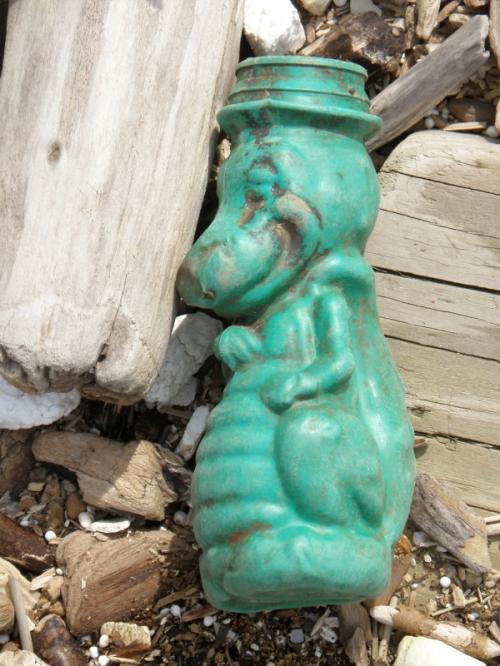 green plastic alligator bottle, May 2013