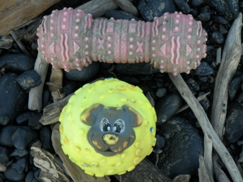 two dog toys, May 2013