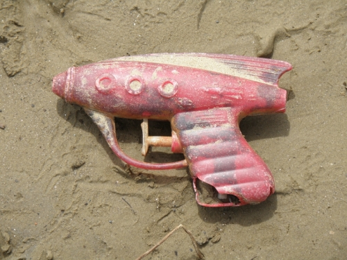 ray gun-style water pistol, May 2013
