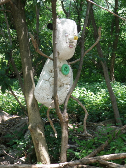 Figure in a tree, July 2013