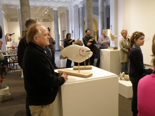 Folks in attendance for the artists' talk, Feb. 2014