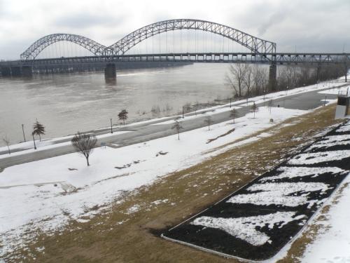 Sherman Minton Bridge at New Albany, Indiana, Feb. 2014