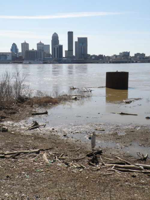 Looking toward the skyline of Louisville, Late Feb. 2014