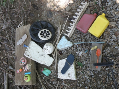 Found objects, Falls of the Ohio, May 3, 2014