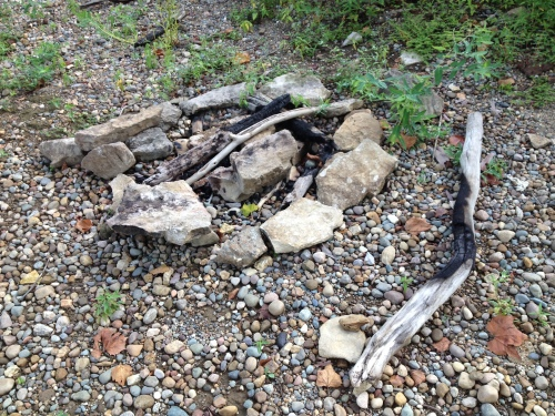 old firepit, Aug. 2014