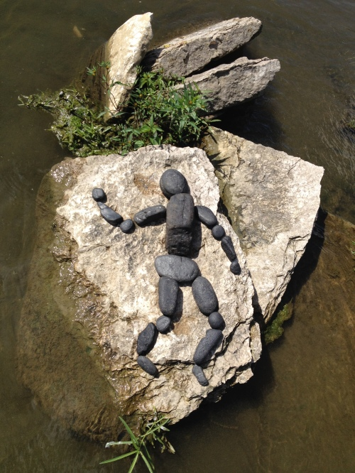 Dancing Coal figure, Falls of the Ohio, Oct. 2014