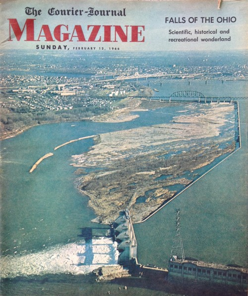 Falls of the Ohio article, Courier-Journal Magazine cover, Feb. 13, 1966