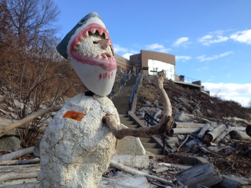 Shark Shepherd by the Falls of the Ohio Interpretive Center, Dec. 2014