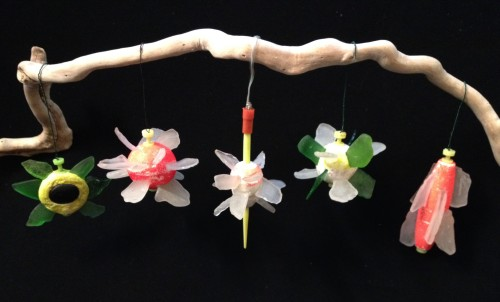 2014 Ice Blossom Ornaments made with Falls of the Ohio found materials