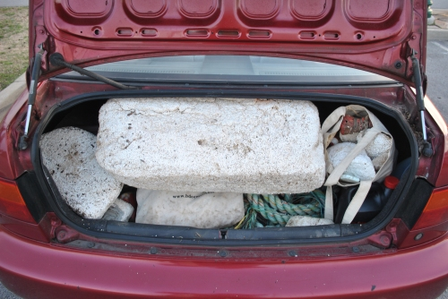 trunk load of river junk, March 2015