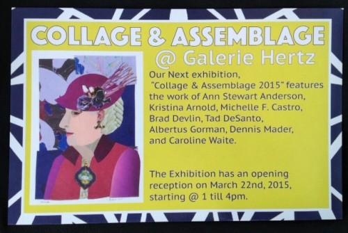 Galerie Hertz exhibition announcement, March 2015