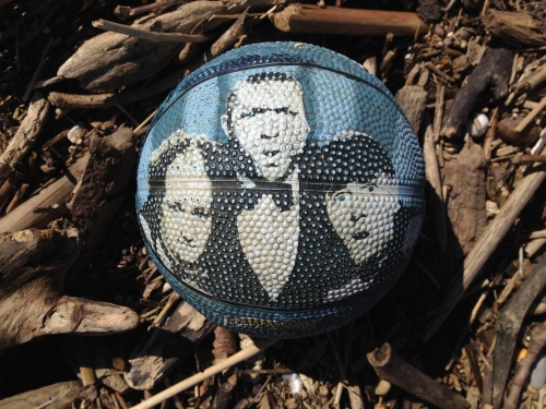 Three Stooges ball found at the Falls of the Ohio, March 2015